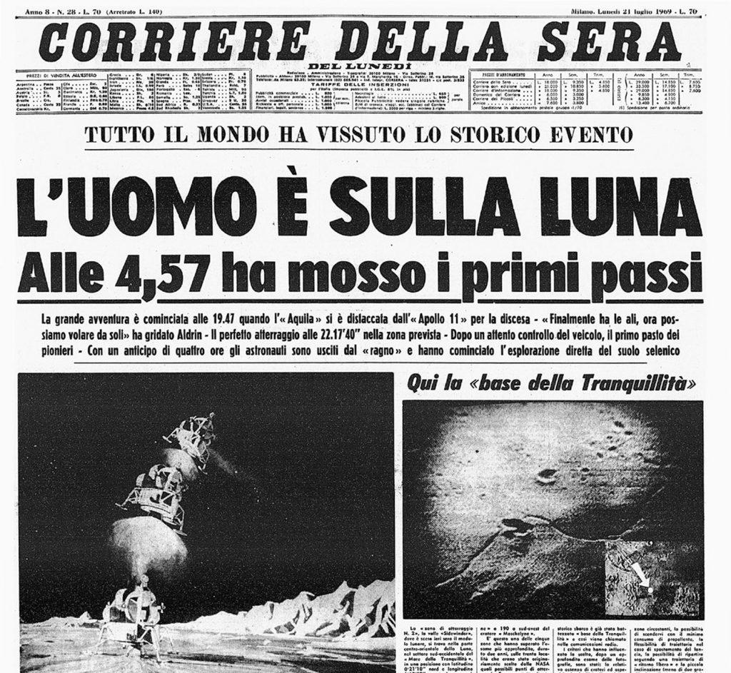 Sbarco sulla Luna - Corriere della Sera