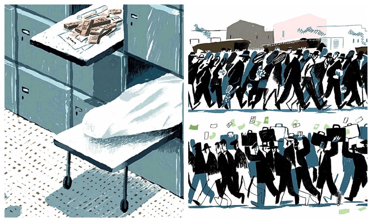 Mafia e ospedali - Illustrazioni di Sergiy Maidukov