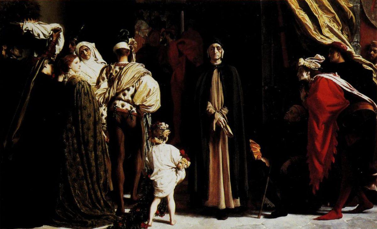 Frederic Leighton, Dante in esilio, 1864
