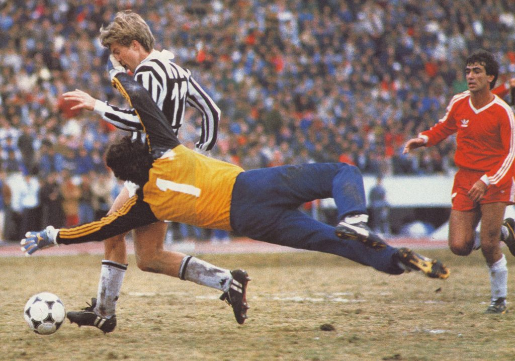 Juventus-Argentinos Jr - Il gol di Laudrup