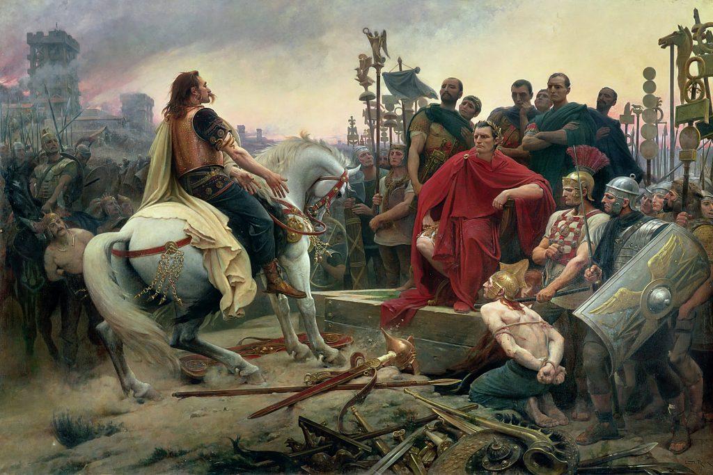 Lionel Royer - Vercingetorige depone le armi ai piedi di Giulio Cesare (1899)