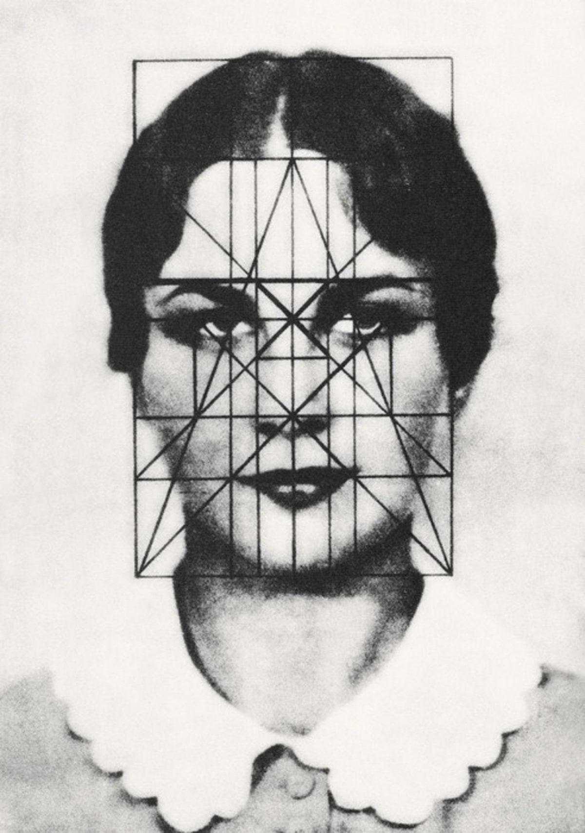«Analisi delle proporzioni del volto di Helen Wills» di Matila Ghyka (1931)