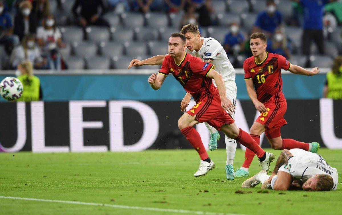 Belgio-Italia 1-2 - 03-07-2021 - Il gol di Barella - 02