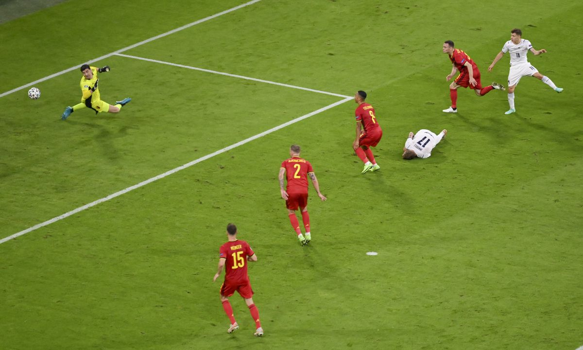 Belgio-Italia 1-2 - 03-07-2021 - Il gol di Barella - 03