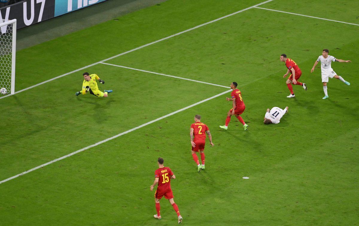 Belgio-Italia 1-2 - 03-07-2021 - Il gol di Barella - 04