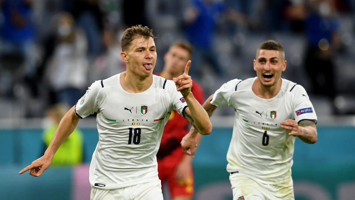 Belgio-Italia 1-2 - 03-07-2021 - Il gol di Barella - 07