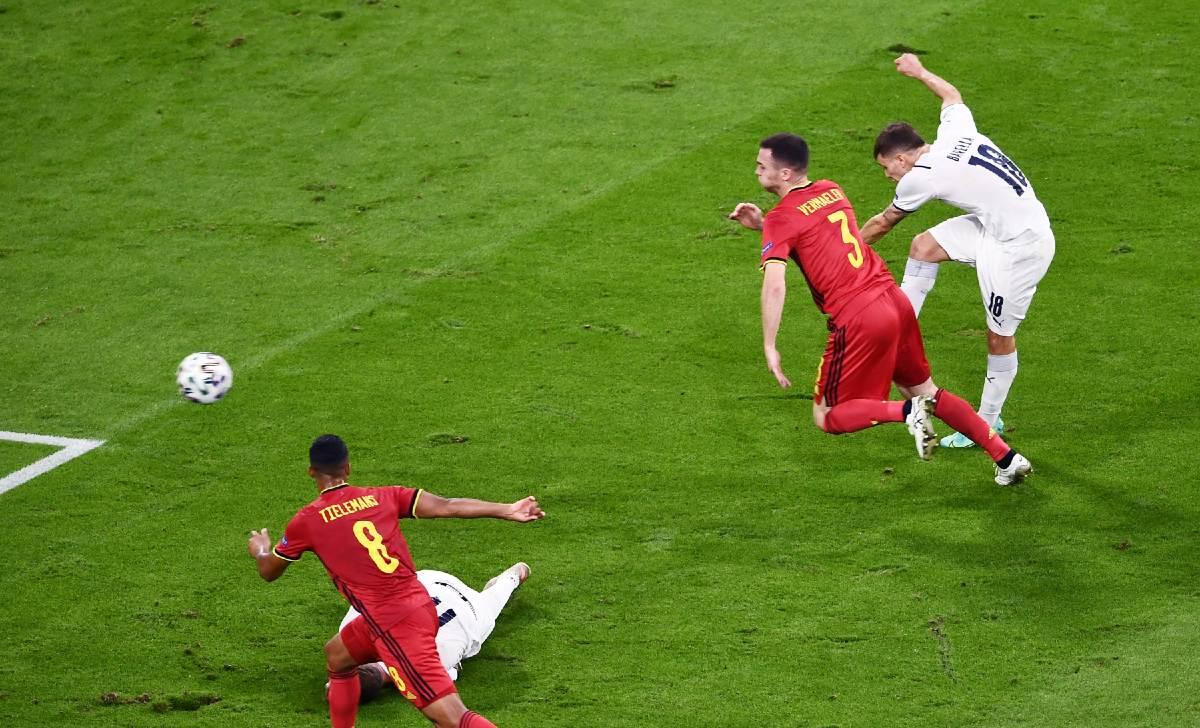 Belgio-Italia 1-2 - 03-07-2021 - Il gol di Barella