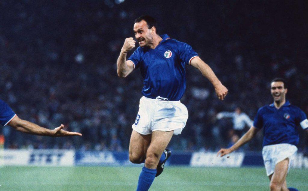 Italia-Austria 1990 - Schillaci esulta dopo il gol