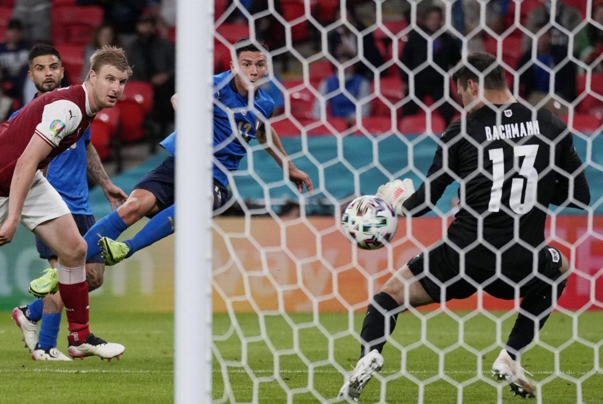 Italia-Austria 2-1 - 26-6-2021 - Il gol del 2-0 di Pessina - 03