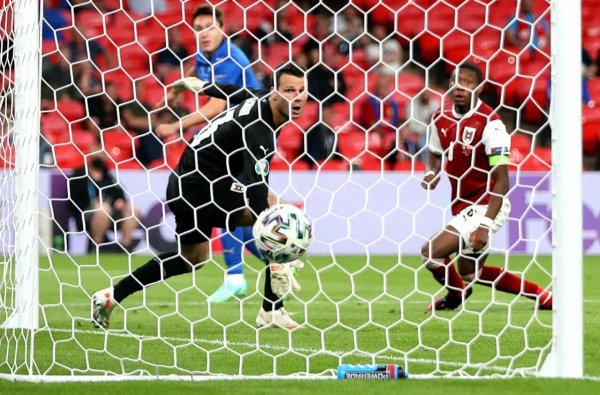Italia-Austria 2-1 - 26-6-2021 - Il gol dell'1-0 di Chiesa - 02