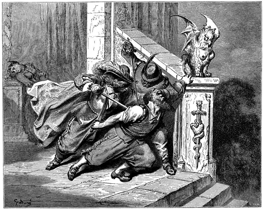 La morte di Barbablù, Illustrazione di Gustave Doré